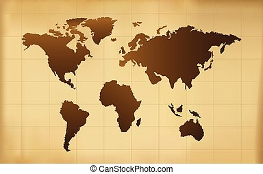 The vector old world map eps 8 vector search clip art the old world map vector background gumiabroncs Gallery