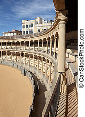 The oldest Spanish Bullring in Ronda, Andalusia Spain