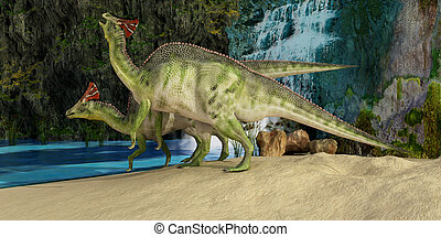 Olorotitan - The Olorotitan was a duckbilled dinosaur from...