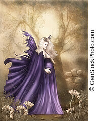 The one Moment - a beautiful pregnant fairy walks through...