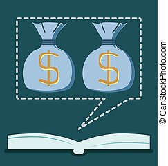 The open book with a dollar symbol