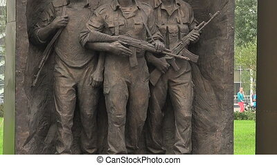 The opening of the monument to Soviet soldiers in Afghanistan.