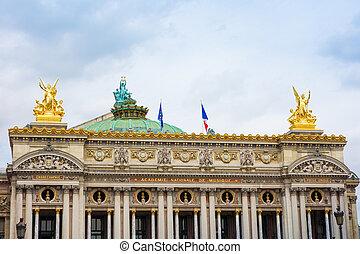 The Opera Garnier in paris France
