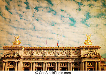 The Opera Garnier in paris