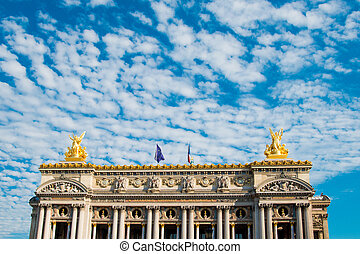 The Opera Garnier in paris France