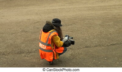 The operator of the camera