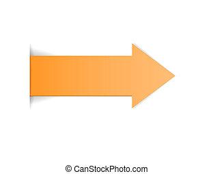 The orange arrow