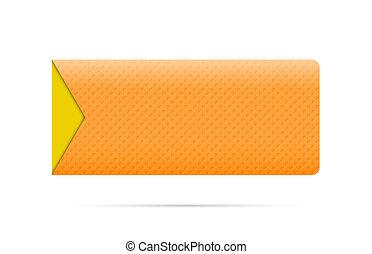 The orange button with arrow
