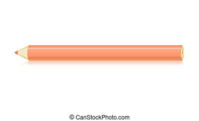 The orange crayon