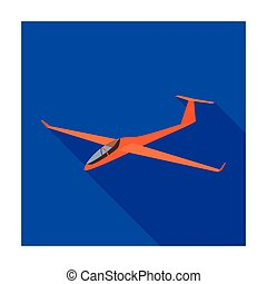 The orange fighter. High speed airplane for one...
