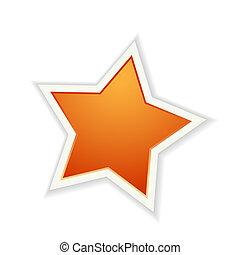 The orange glossy star