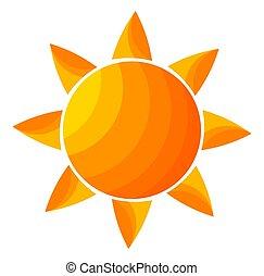 The orange sun icon.