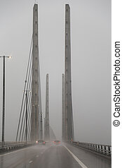 The Oresund Bridge connects Sweden and Denmark and is a...