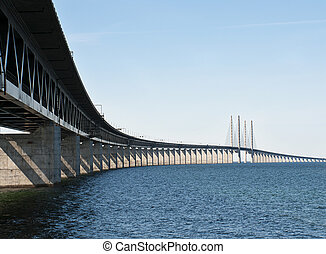 One of longest bridge of it's kind. Connecting Sweden and Denmark.