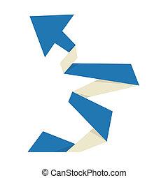 The origami arrow
