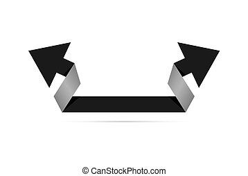 The origami style arrow