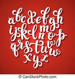 The original alphabet. Hand-made lettering