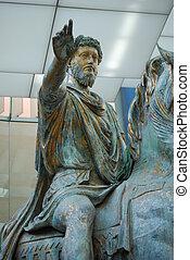 statue of Emperor Marcus Aurelius