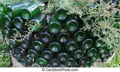 original flowerbed of glass bottles - the original flowerbed...