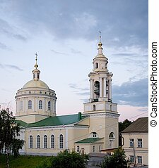 the orthodox temple with sky at background