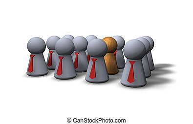 the other - play figures businessmen with red tie and one...