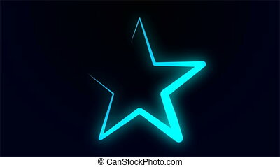 the outline of a neon star