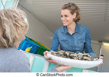 the oyster seller