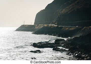 The Pacific Coast, seen in Malibu, California.