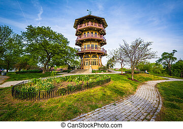 The pagoda at Patterson Park, in Baltimore, Maryland.