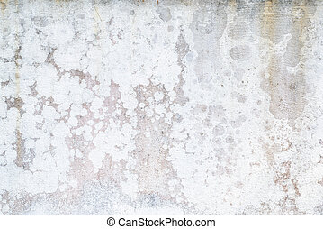 The paint is peeling off, falling apart, Damaged wall