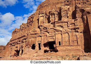 The Palace and Corinthian Tombs, Petra, Jordan