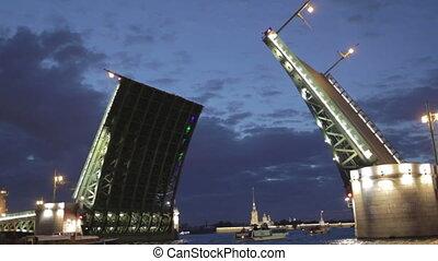 The Palace Bridge in Saint Petersburg.