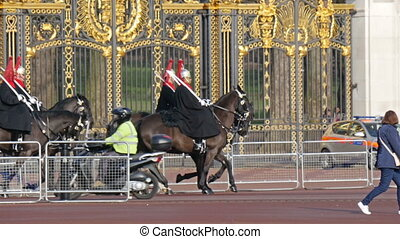 The palace guards on their horses