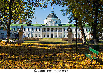 The palace in the estate Kachanovka Chernigov region Ukraine