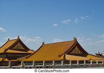 The palace in The Forbidden City, Beijing