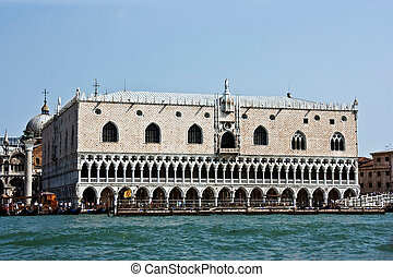 The Palace of Doges on Sacred Mark's area. Venice.