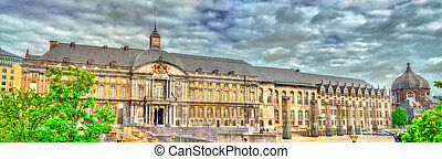The Palace of the Prince-Bishops on place Saint-Lambert in Liege, Belgium
