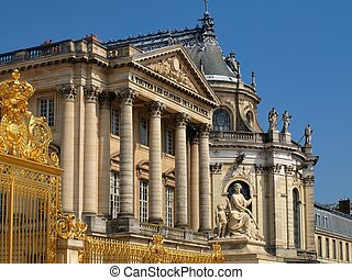 The Palace of Versailles - golden gate de Versailles in France