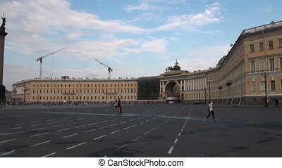 The palace square in st. Petersburg