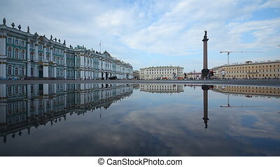The Palace Square - Russia, St. Petersburg, Palace Square,...