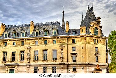 The Palais de Justice in Paris, France
