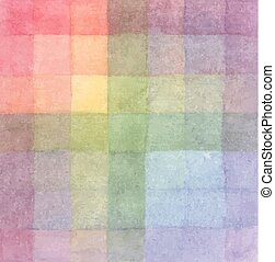 The palette of colors. Imposition of color on color. Background. Vector colored squares. Pictorial art. Rainbow design elements
