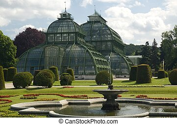 Palmhaus - The Palmhaus, or greenhouse, at the Schonbrunn ...
