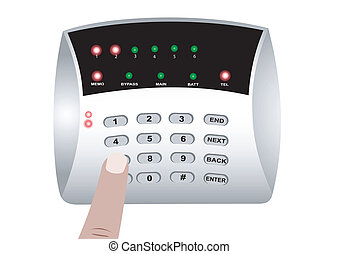 ... The Panel Of The Security Alarm System   Illustration Of The.