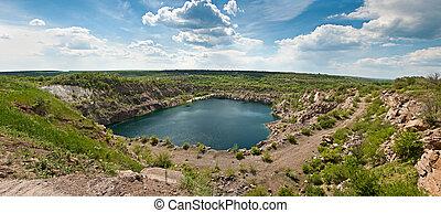 The panorama of beautiful Lake