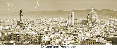The panorama of Florence