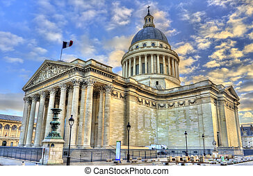 The Pantheon in Paris, a secular mausoleum containing the...