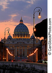 The Papal Basilica of Saint Peter in Vatican.