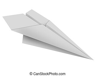 paper toy plane - The paper toy plane on a white background