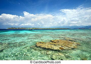 The paradise island of Gili Meno. Indonesia